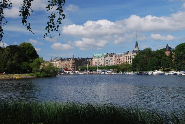 A view of the Ostermalm skyline in Stockholm