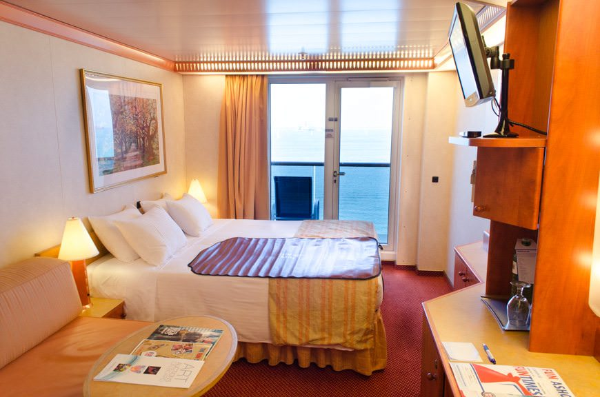 My home for the week: a Category 8C Balcony Stateroom on Deck 6. Photo © 2015 Aaron Saunders