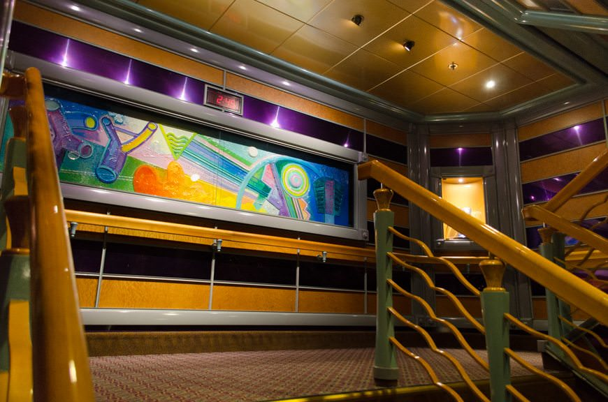 Stairwells are bright and colourful, and feature suitably vibrant artwork. Photo © 2015 Aaron Saunders