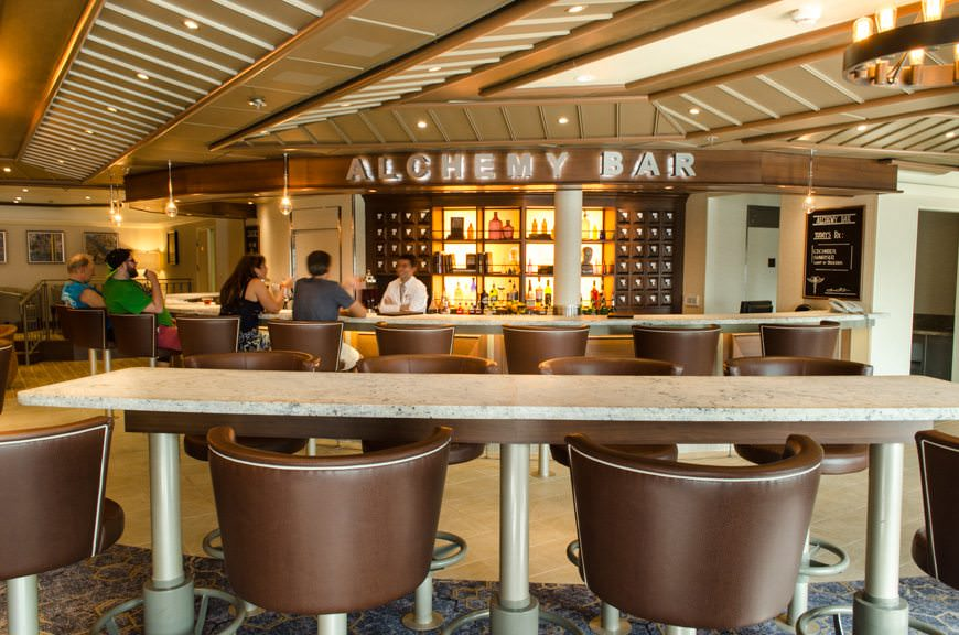 Step right up and let Carnival's mixologists prescribe you an elixir for all your various ailments at the Alchemy Bar. Photo © 2015 Aaron Saunders