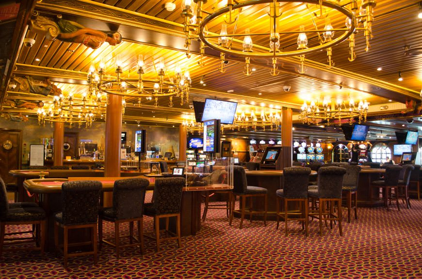 Mr. Lucky's Casino is located on Deck 2 midships. Photo © 2015 Aaron Saunders