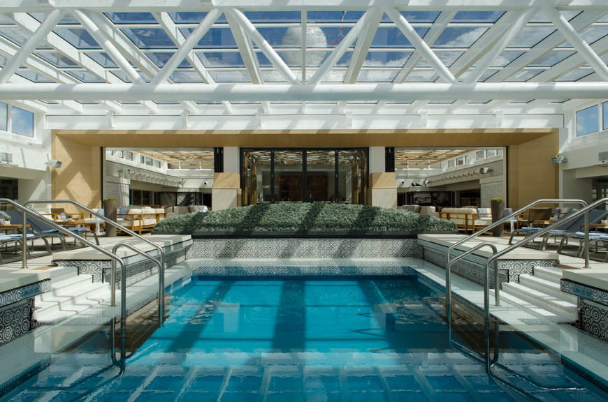 ...the spectacular pool area and Wintergarden on Viking Star. Photo © 2015 Aaron Saunders