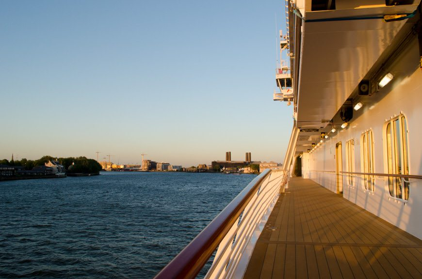 Viking Star also features a large, wraparound Promenade Deck. Photo © 2015 Aaron Saunders