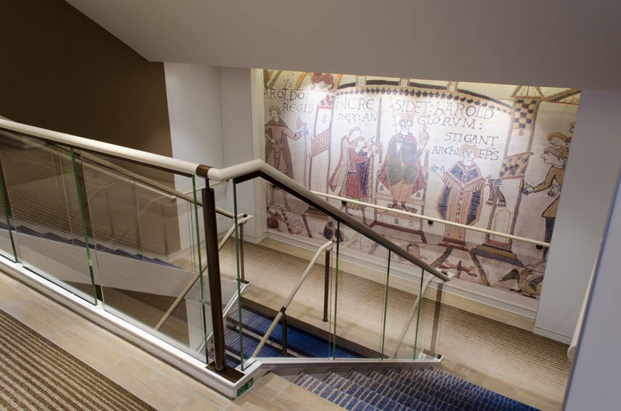 Better- than-average thought has been put into the design of Viking Star's two mains staircases. Photo © 2015 Aaron Saunders