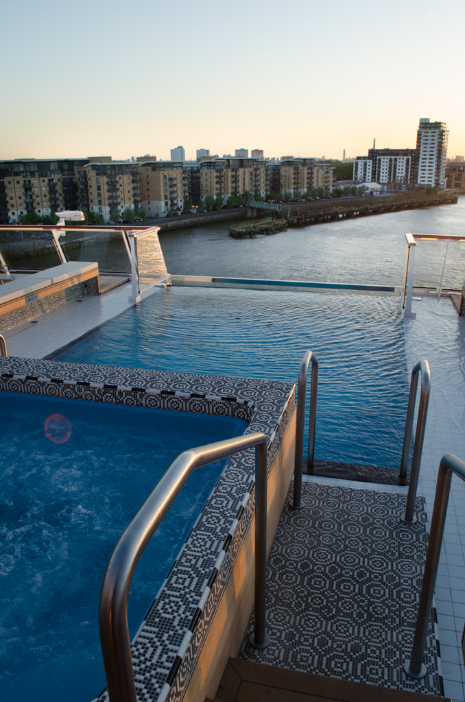 All the way aft, Viking Star features a stern-mounted Infinity Pool. Photo © 2015 Aaron Saunders