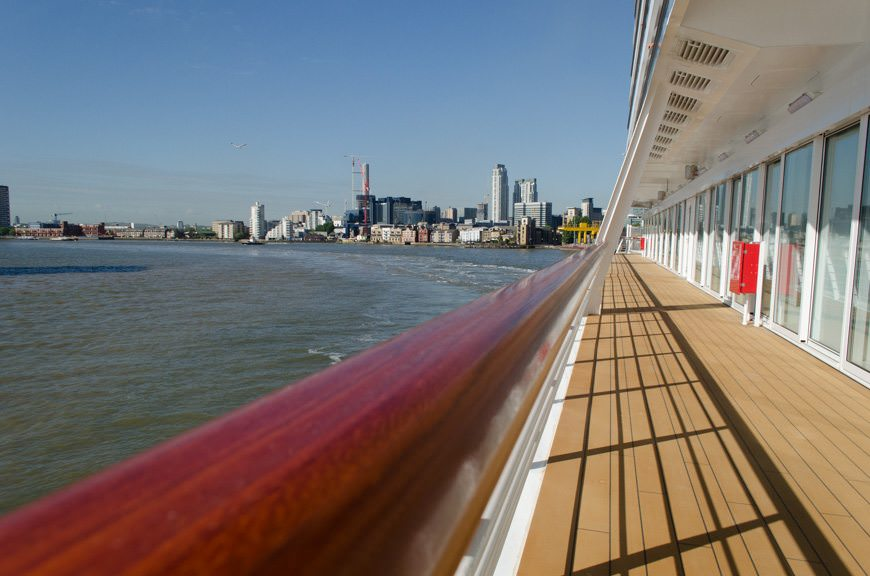 Sailing out of Greenwich, England down the famous River Thames. Photo © 2015 Aaron Saunders