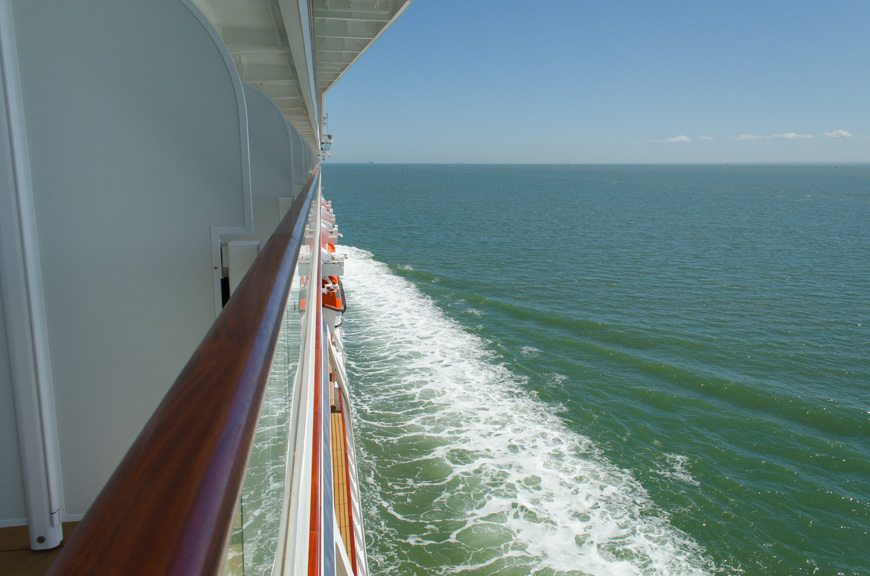 This afternoon, we sailed out of the Thames, and set a course for the North Sea. Photo © 2015 Aaron Saunders