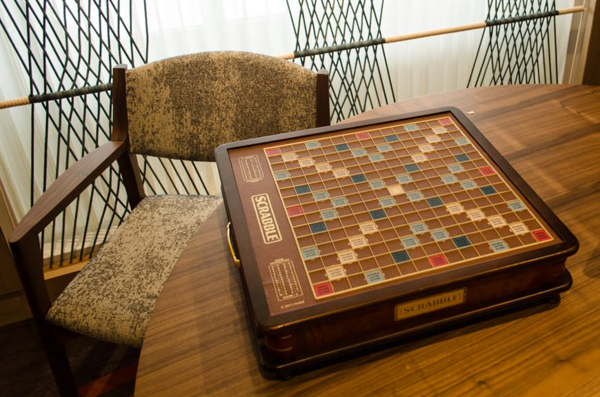 I love Scrabble - and I've never seen so many Scrabble sets on a ship before in my life. Better, everyone's using them. Well done! Photo © 2015 Aaron Saunders
