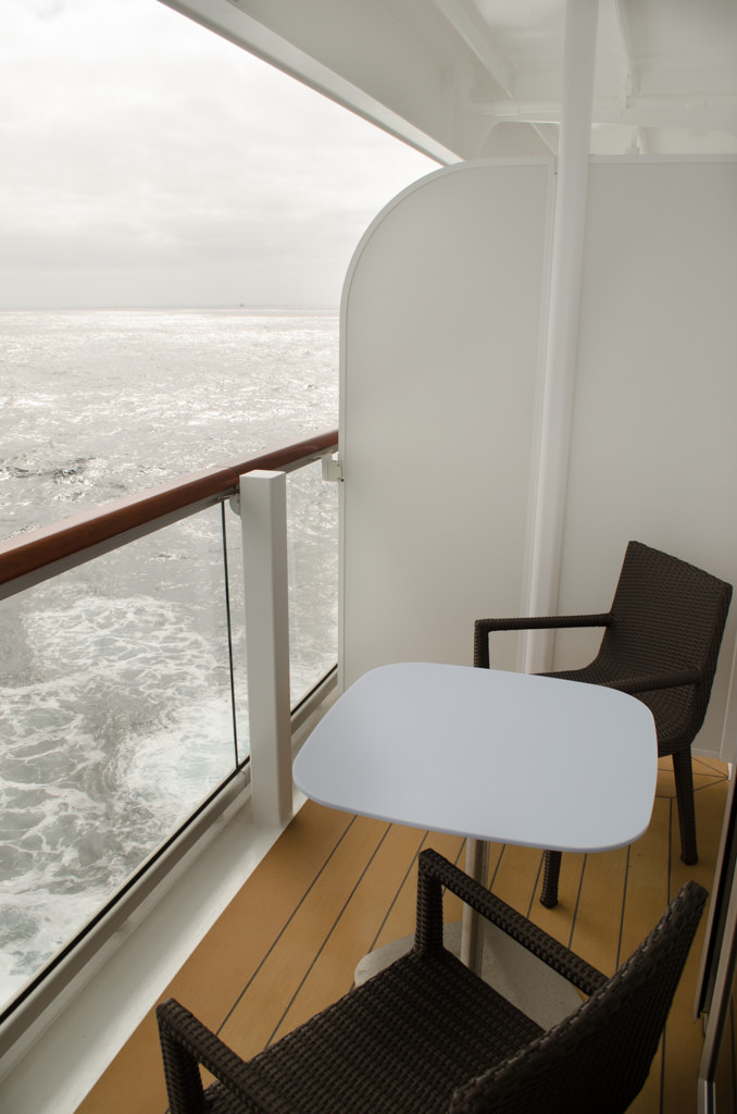 Watching the ocean from the comfort of my Viking Star balcony. Photo © 2015 Aaron Saunders
