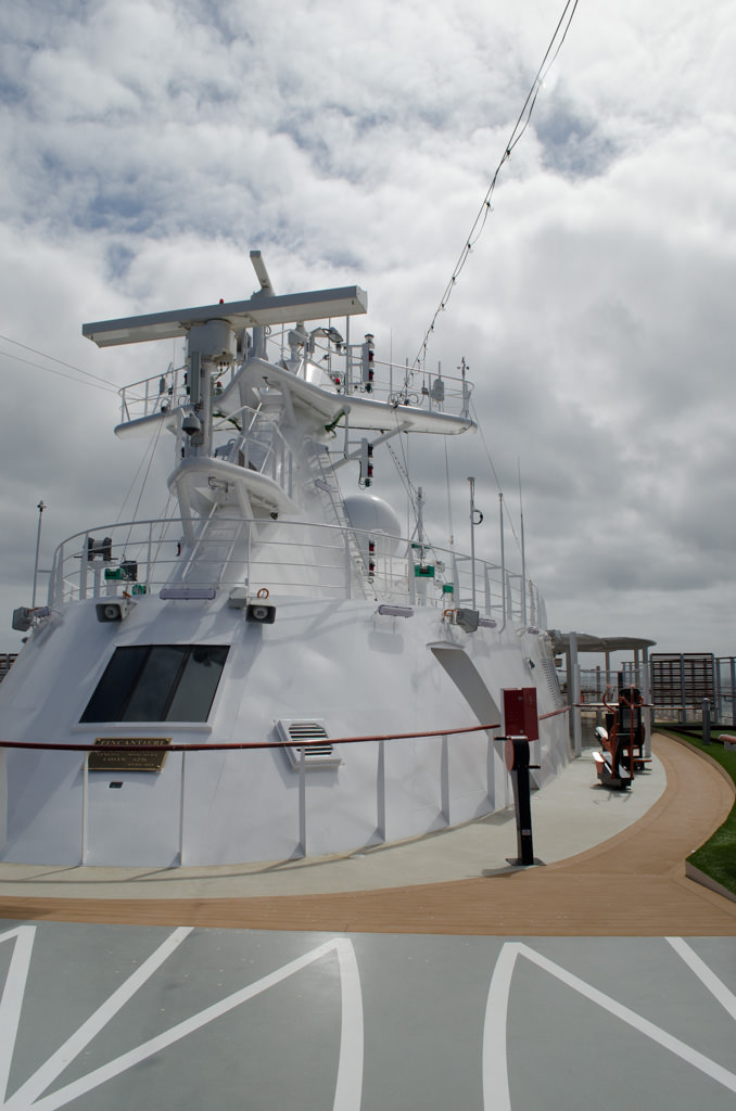 Up on Deck 9 is the ship's Radar Mast - a typically unused space on most ships. Photo © 2015 Aaron Saunders