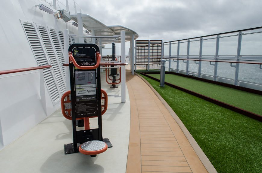 On Viking Star, it houses an outdoor fitness center...Photo © 2015 Aaron Saunders