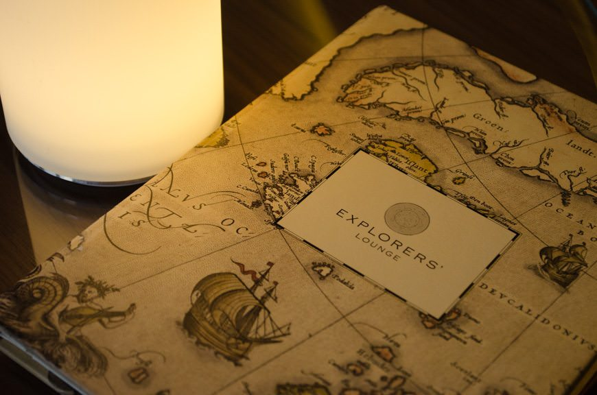 The attention to detail on the onboard printed menus is worth noting. Photo © 2015 Aaron Saunders