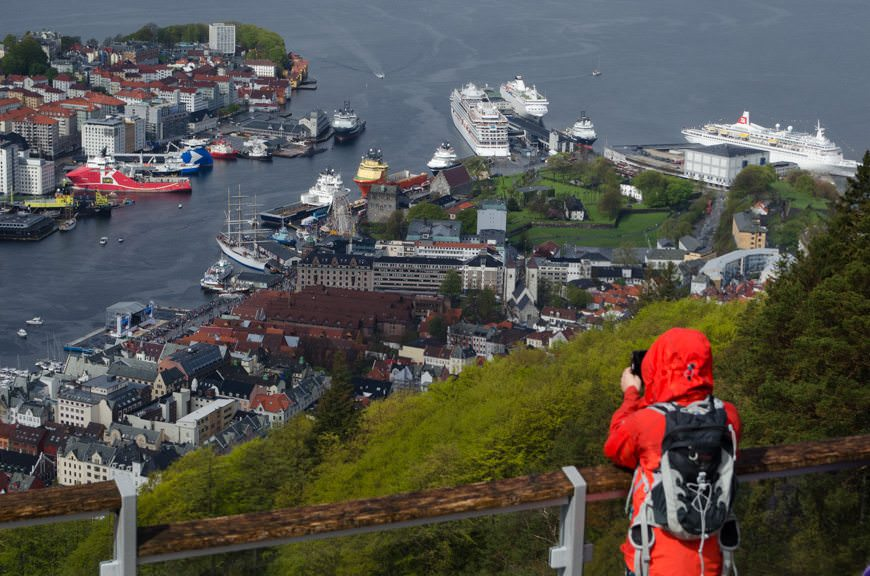 It's Norwegian Constitution Day in Norway - and two very important Norwegian ships are in port in Bergen. Photo © 2015 Aaron Saunders