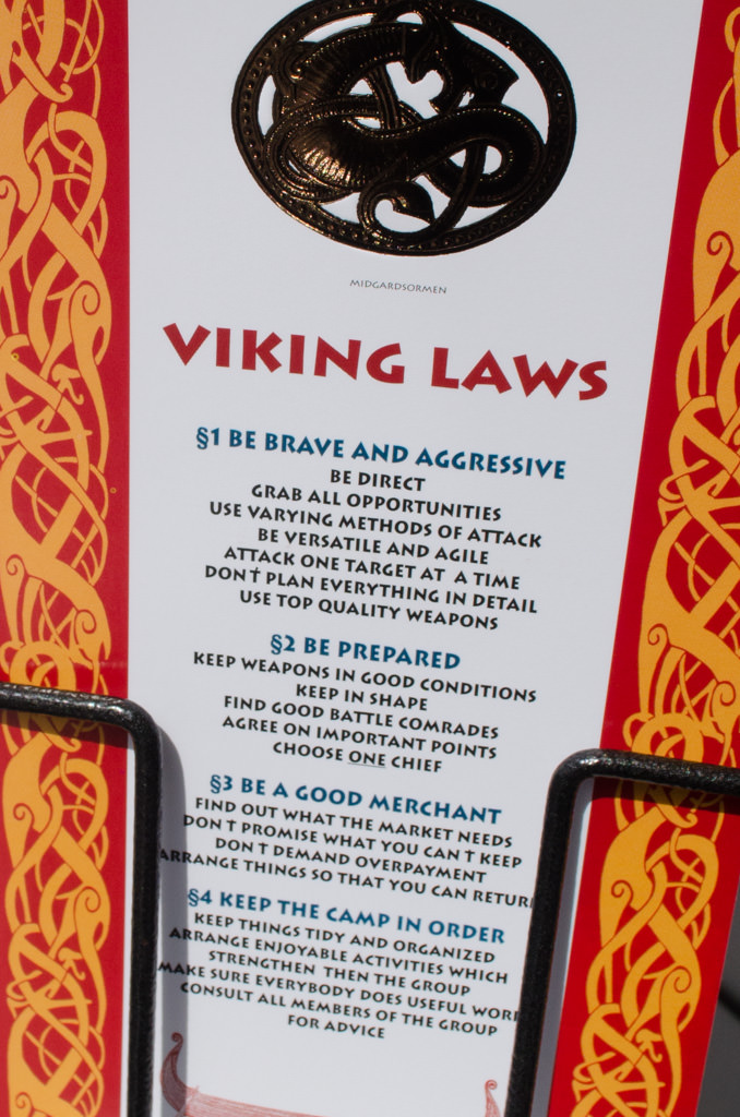As seen on a postcard at Mt. Floyen. Could this apply to Viking's very own Viking, Chairman Torstein Hagen? Methinks so. Photo © 2015 Aaron Saunders