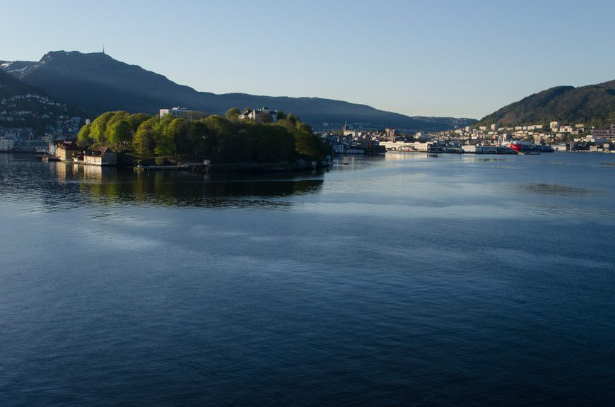 ...for our arrival into Bergen. Photo © 2015 Aaron Saunders
