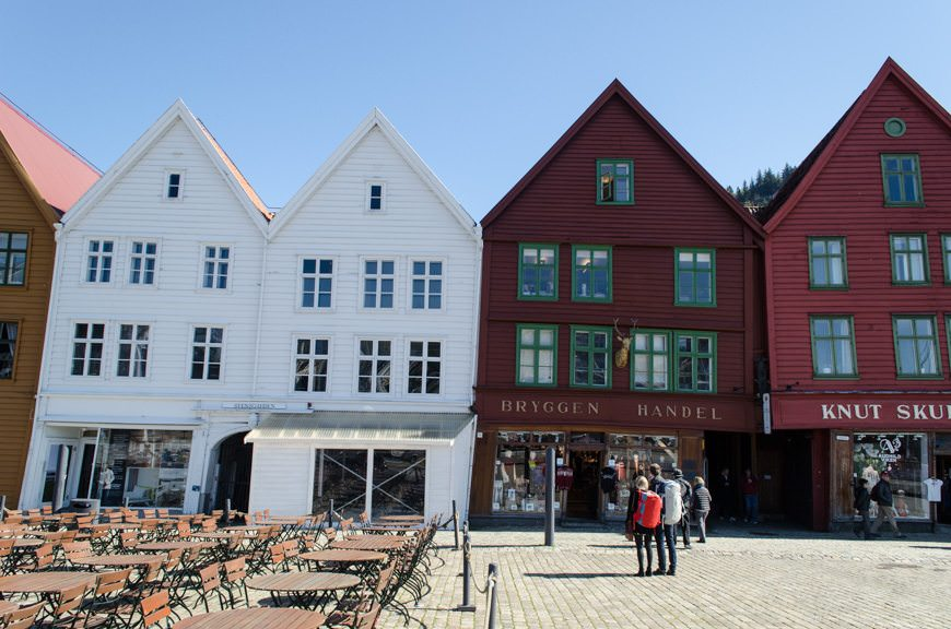 Historic Bryggen - just steps away from Viking Cruises' Viking Star. Photo © 2015 Aaron Saunders