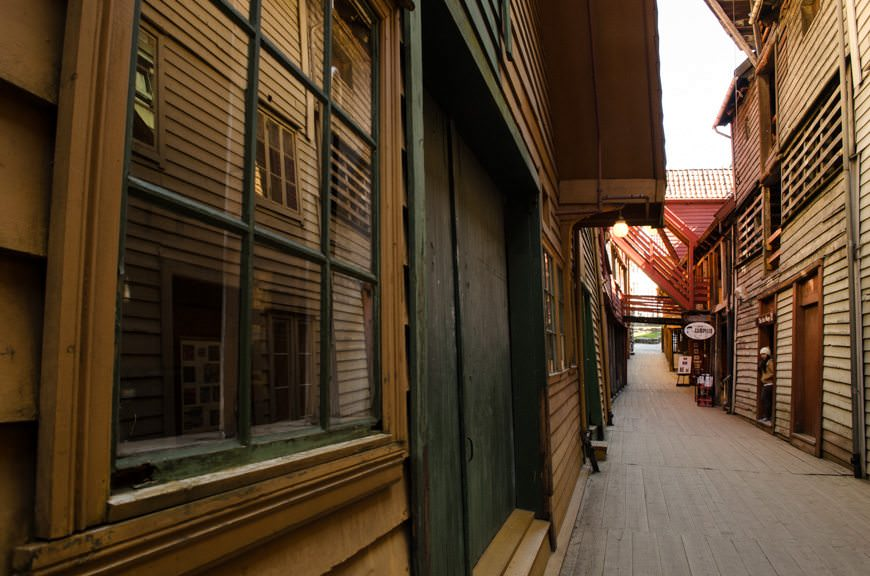 To stroll through Bryggen is to step back in time. Photo © 2015 Aaron Saunders