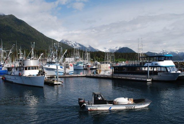 A portion of the Sitka fishing fleet