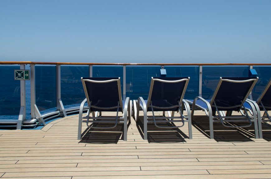 Of course, Carnival's Mexican Riviera itineraries include up to three sea days - and plenty of deck space to enjoy them. Photo © 2015 Aaron Saunders