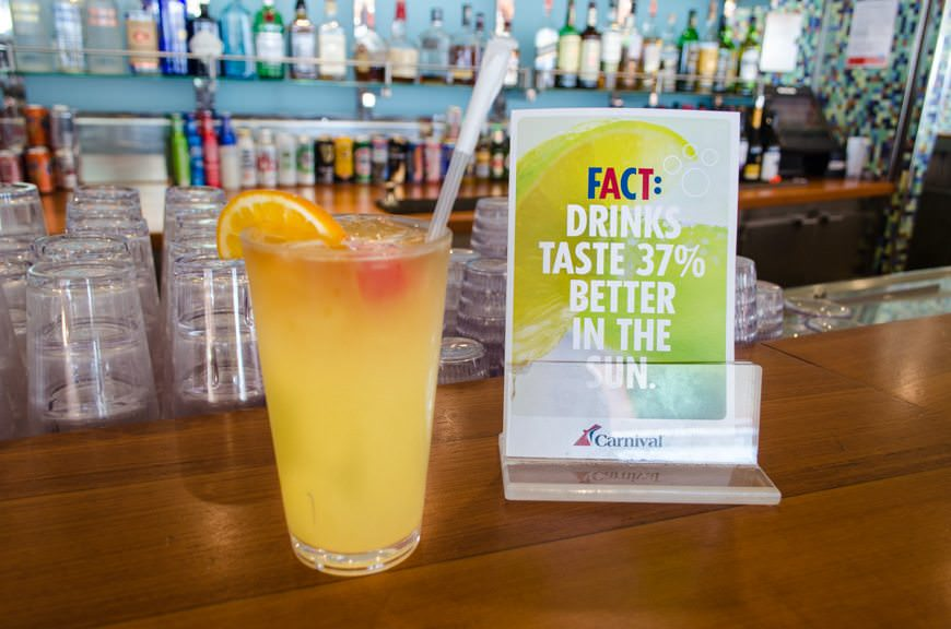 It's true: drinks are better in the sun! Photo © 2015 Aaron Saunders