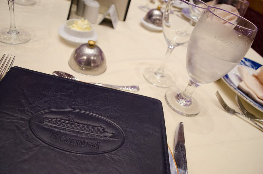 Dinner in the Bacchus Dining Room! Photo © 2015 Aaron Saunders