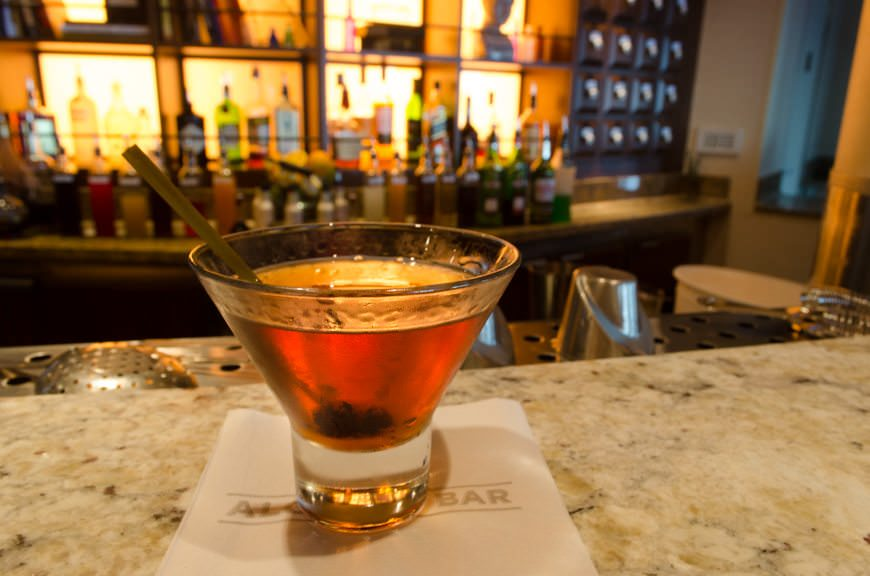 As for me, it was time for a Caribbean Manhattan in the Alchemy Bar. Photo © 2015 Aaron Saunders