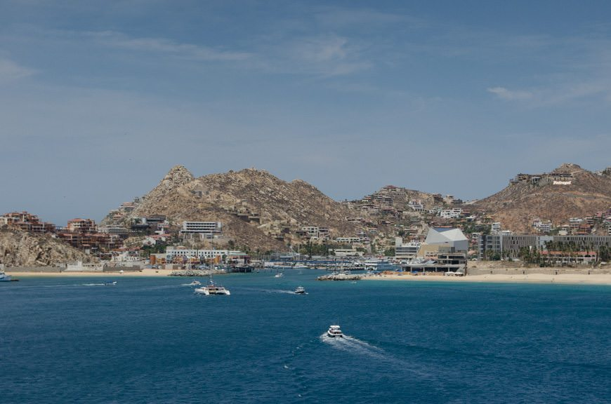 The town of Cabo San Lucas can almost hardly be called that anymore. The place is bustling, even in the wake of last year's hurricane. Photo © 2015 Aaron Saunders