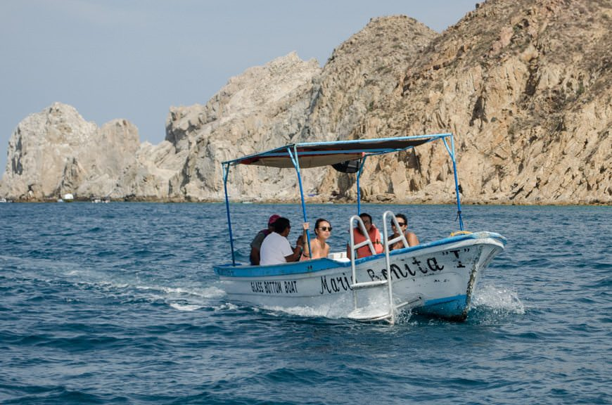 These traditional boat tours are slowly beginning to disappear from the local scene in Cabo, as American power yachts take over. Photo © 2015 Aaron Saunders