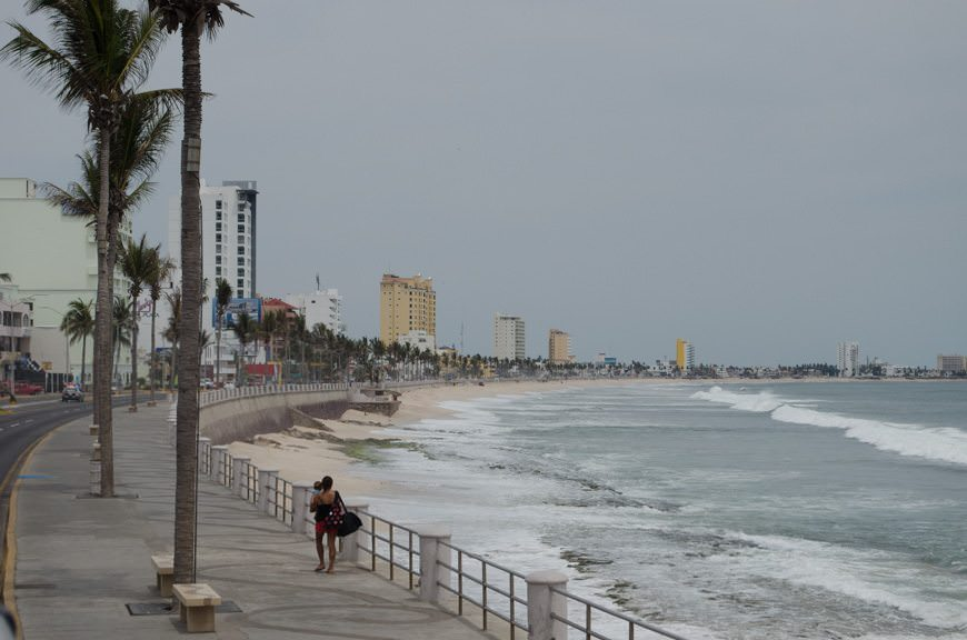 An unsettled day along the Malecon in Mazatlan as we speed back to the ship...Photo © 2015 Aaron Saunders