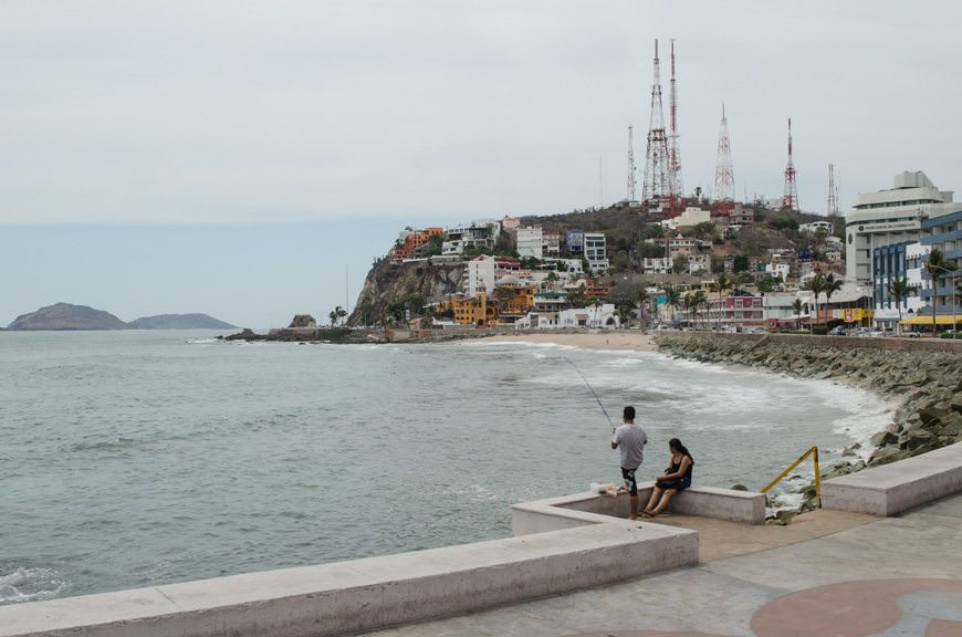 A quiet moment along the Malecon in Mazatlan. Photo © 2015 Aaron Saunders