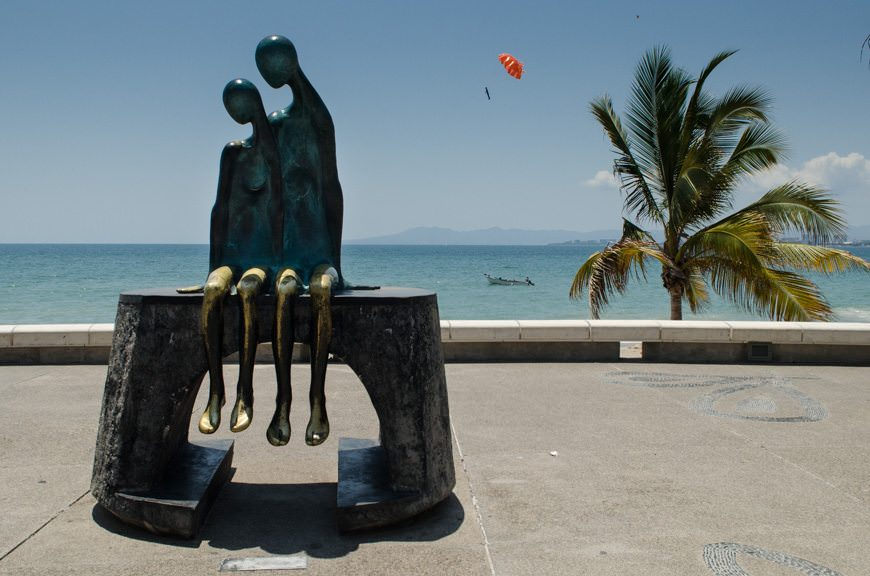 Clustered along the Malecon are carved statues and works of art that are fascinating to look at. Photo © 2015 Aaron Saunders