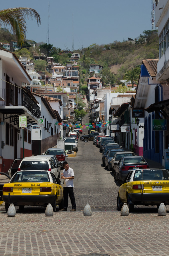 Taxis are, as you might imagine, everywhere in Puerto Vallarta. Taxi fare from the cruise pier to Old Puerto Vallarta is about $7 USD. Photo © 2015 Aaron Saunders
