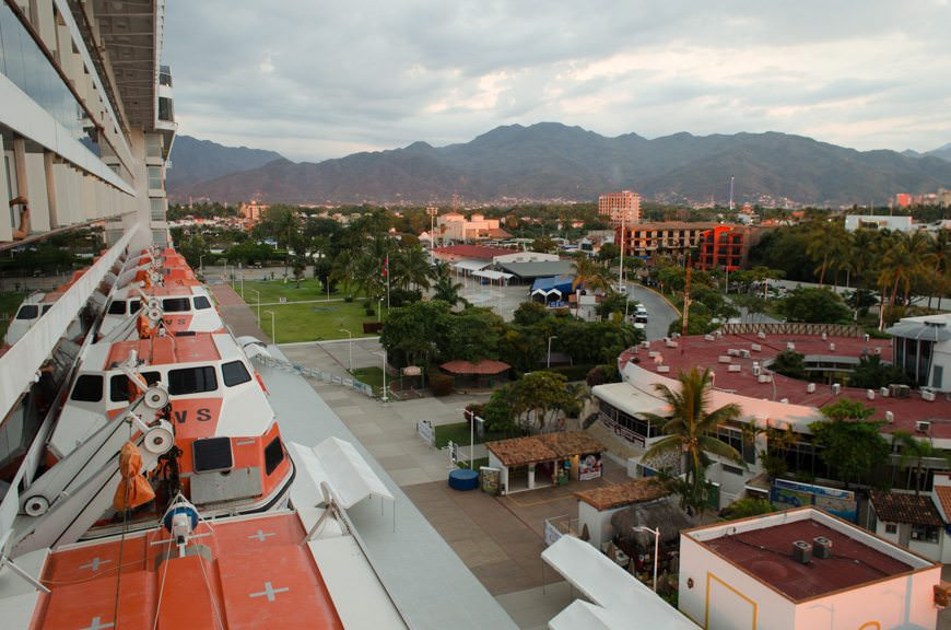Back onboard Carnival Miracle, we prepare to set sail from Mazatlan at 8pm sharp. Photo © 2015 Aaron Saunders