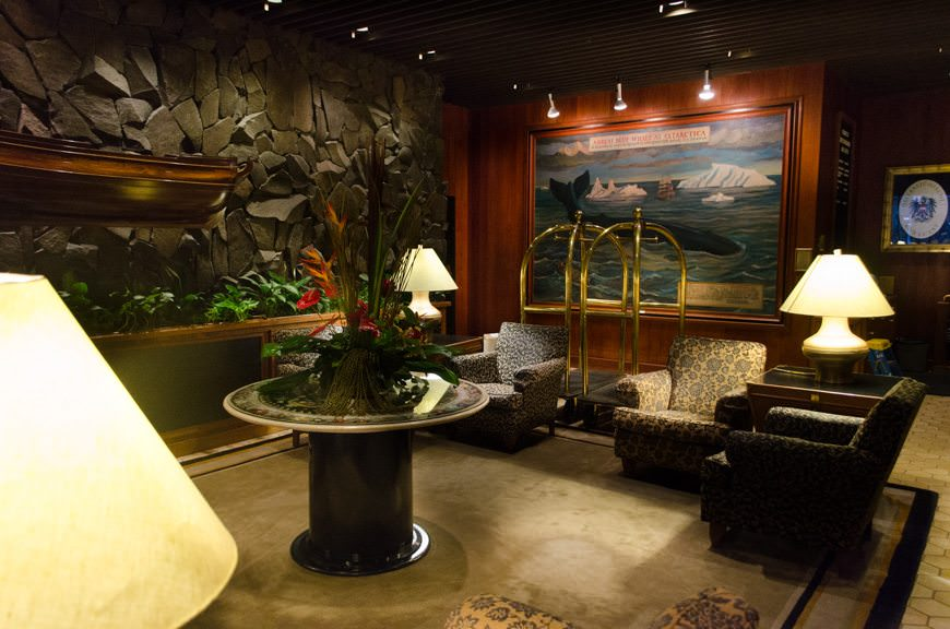 The interior of the Hotel Captain Cook Anchorage is classy and tastefully decorated. Photo © 2015 Aaron Saunders
