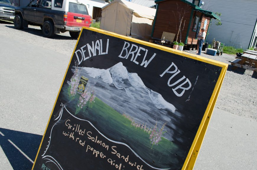 If you're in Denali, you've got to stop in at the Denali Brew Pub. Photo © 2015 Aaron Saunders