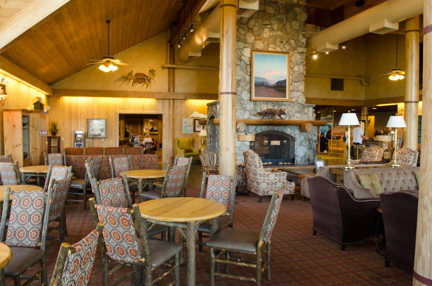 The interior of the lodge: cozy in all weather conditions. Photo © 2015 Aaron Saunders