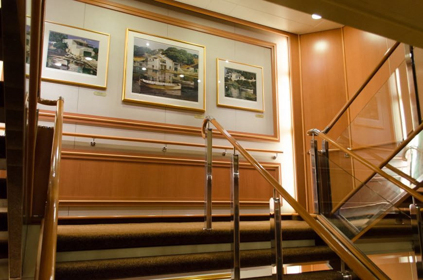 Star Princess is in fabulous condition, right down to the ship's three stairwells. Photo © 2015 Aaron Saunders