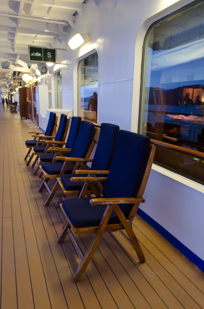 ...and realize how much I've missed ships with actual deck chairs! Photo © 2015 Aaron Saunders