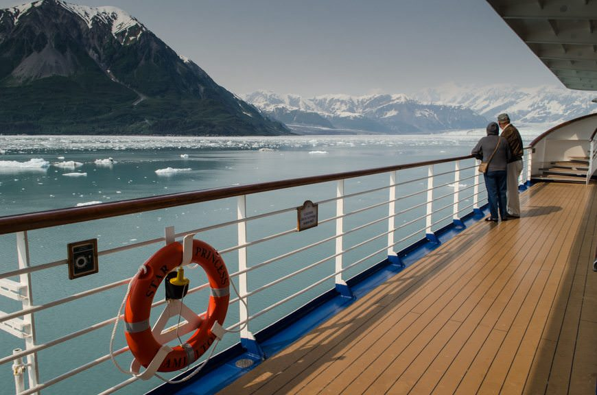 Princess Cruises' Star Princess approaches Hubbard Glacier, Alaska