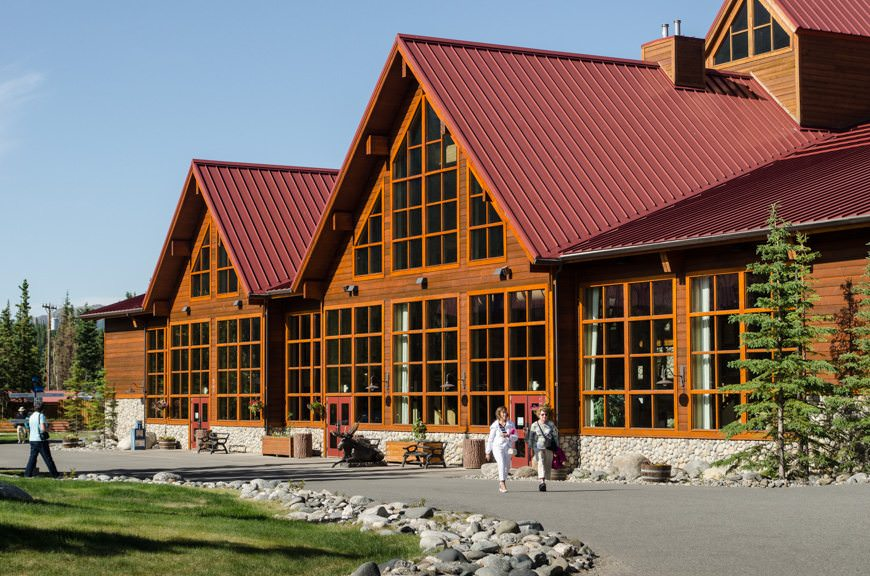 The Denali Princess Wilderness Lodge is comprised of two main lodges and several outbuildings, and has 656 rooms on the property. Photo © 2015 Aaron Saunders