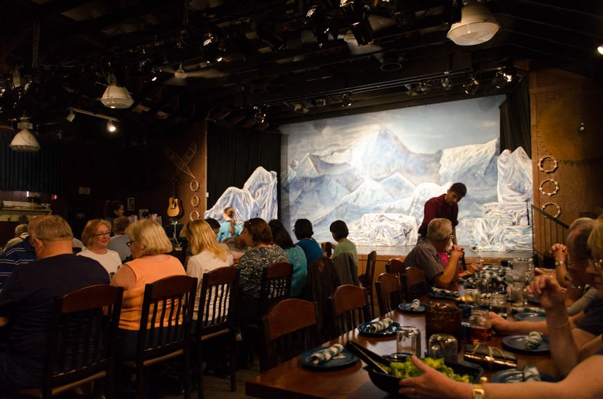 Getting ready for dinner at the Music of Denali. Photo © 2015 Aaron Saunders