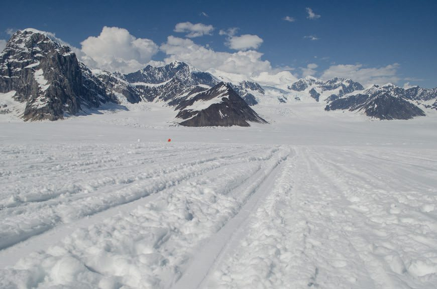 "The glacial ""airstrip"". Photo © 2015 Aaron Saunders"