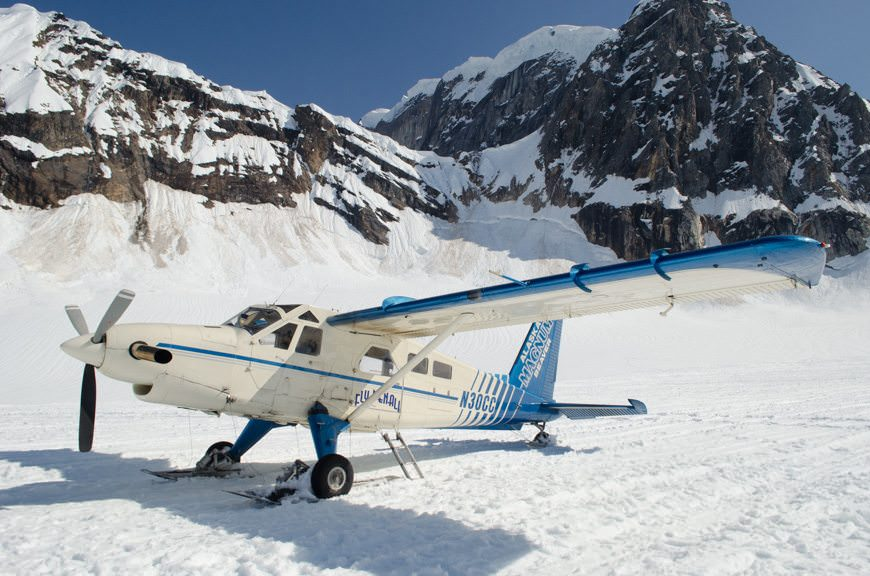 Today's Amazing Experience: landing on a glacier near Denali National Park. Stunning! Photo © 2015 Aaron Saunders