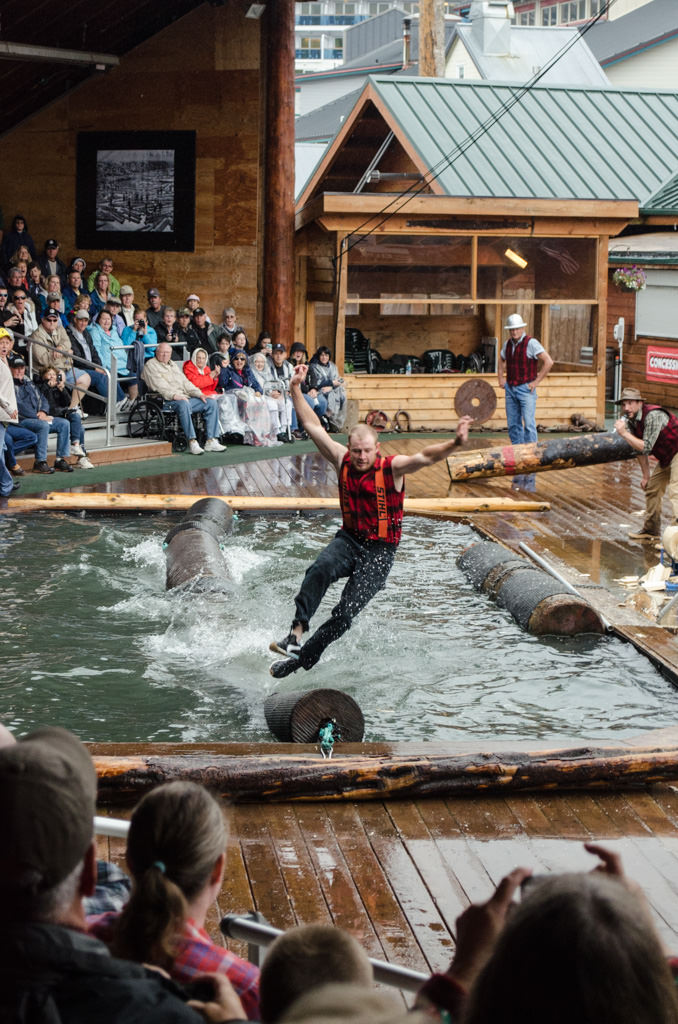 Today, I took in a classic excursion in Ketchikan: the Great Alaskan Lumberjack Show! Always fun! Photo © 2015 Aaron Saunders