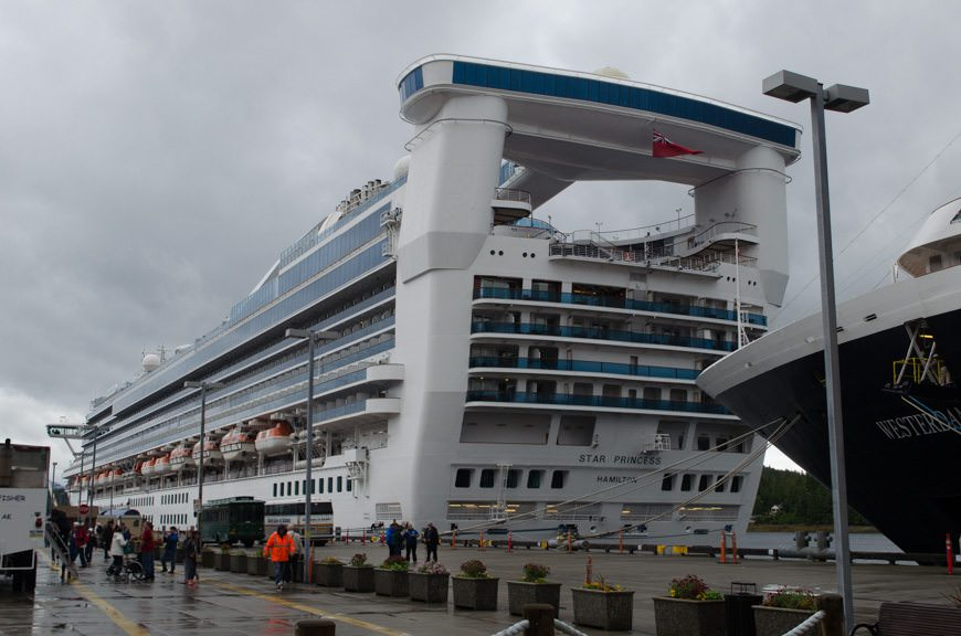 Time to head back to the warmth of the Star Princess...Photo © 2015 Aaron Saunders