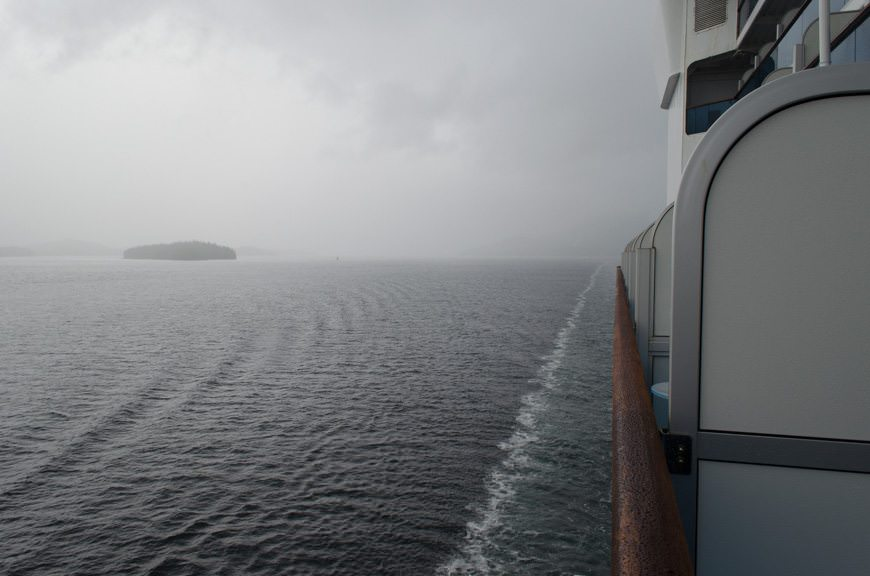 ...and we do the same, sailing out of the Tongass Narrows and into Hecate Strait. Photo © 2015 Aaron Saunders