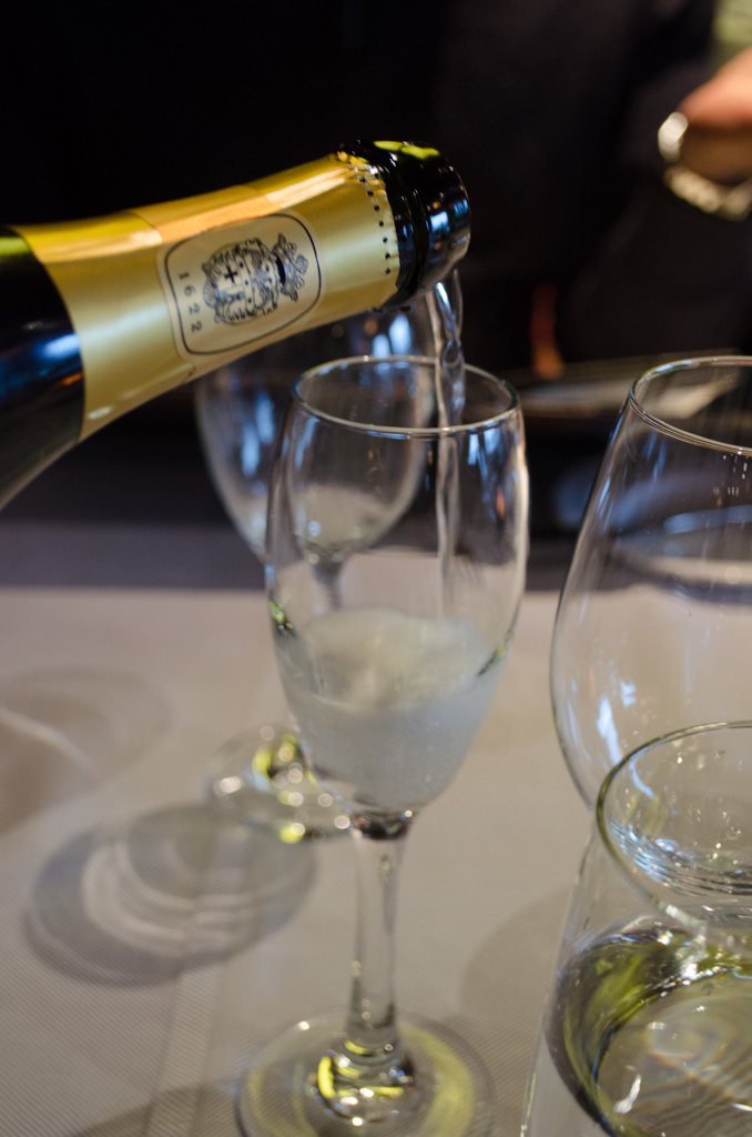 A Champagne Toast at the Crown Grill. Photo © 2015 Aaron Saunders