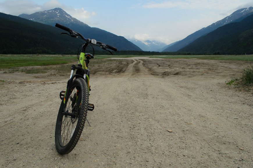 In Skagway, I set out on a five-mile cycling excursion...Photo © 2015 Aaron Saunders