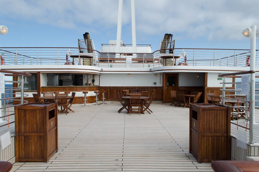 ...The Grill, located all the way aft on Deck 6. Photo © 2015 Aaron Saunders