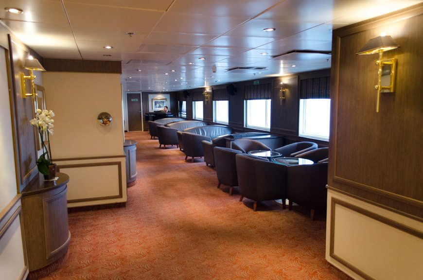 ...the Panorama Lounge, which - unbelievably - is seen here at 11:45pm. Look at the daylight streaming through the windows! Photo © 2015 Aaron Saunders
